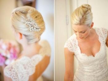 Красиві весільні зачіски на каре
